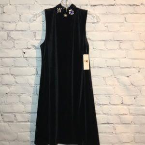 NWT Gianni Bini Girls XL Velvet Jeweled Dress